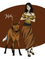 Molly, the Maned Wolf by Aiseya