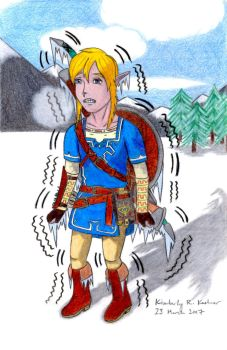 Poor Link: I'm So C-C-Cold... (Version 1) by LuckyNumber113
