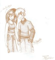 Kim and Ron sketch by brigette