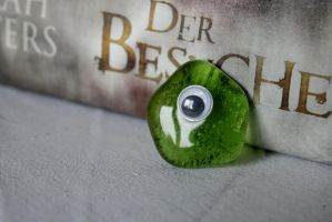 Fused Glass 5: Green Blob Monster by Radiatic