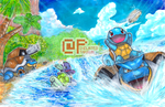 Poke Days: Squirtle Family by Pixelated-Takkun