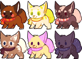 scarf dog adoptables [CLOSED] by wigglytuf