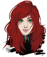 Commission Ellisandra headshot by Jolly-Jessie