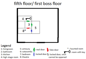 Thrill tower first floor map by willhuf on deviantart for Floor 4 mini boss map