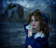 Raining in my heart by EstherPuche-Art