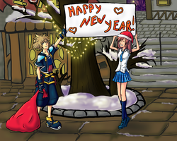 New Year in Traverse Town by Sephellone