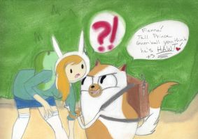 Fionna and Cake by Miss-Whoa-Back-Off