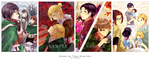 Attack on Titan A4 prints by raitokura