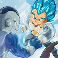 Vegeta VS Frost by smokeragon