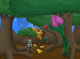 ratchet and clank something by Lombax2007