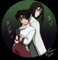 Neji and Tenten by Yunyin