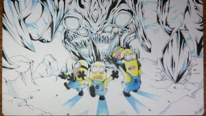 Custom Playmat: Minions running from Arcbound by ccayco
