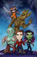 Mini Guardians of a Tiny Galaxy by NikkiWardArt
