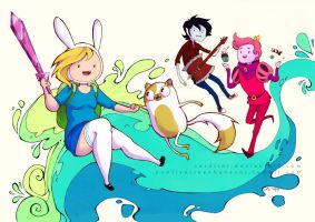 Adventure Time - Fionna and Cake by Sardiini