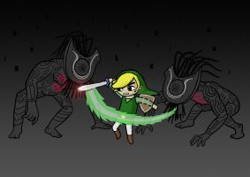 WW link vs TP Shadow Beasts by Mangakid92