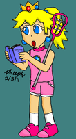 Peach Learning Lacrosse by pheeph