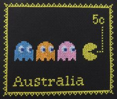 Penny Black Project: Pacman by cloudrat
