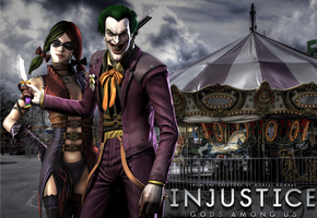 Injustice: Joker x Harley Wallpaper by NerdyOwl299