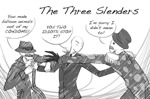 The Three Slenders by SUCHanARTIST13