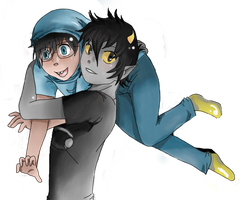 .:GIFT:. John and Karkat by Grimmkittyy
