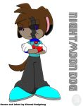 Nightmoon the dog :color: by elisonic12