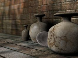 jars and a wall 1 by 3dchris89