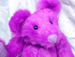 Plush Purple Teddy Bear by CreativeCritters