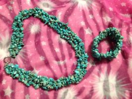 Stunning Turquoise Multistrand Set by CountryHippie