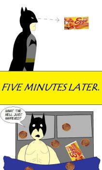 Batman and Eggo by MikePriest83