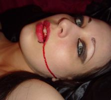 Bloody Mouth Girl Stock 4 by pulse-stock