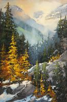 Golden Larches by artistwilder