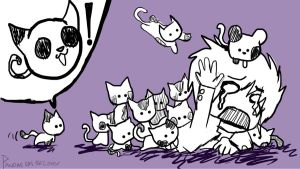 Panda Cats are on the loose by I-Am-NOT-Poe