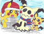 Merry Christmas Mimikyu by brookellyn