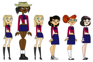 TDPI Girls (Total Drama Academy) by corbinace