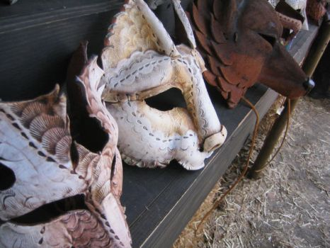 Leather Masks by moriookami