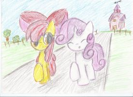 Two fillies by Kvedja