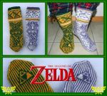 The Legend of Zelda fair-isle socks by KnitLizzy