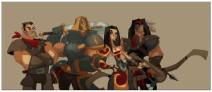 DnD Party VI: Pathfinder OC commish 2 by hangemhigh13