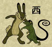 Wood Rabbit VS Wood Rat by Furrama