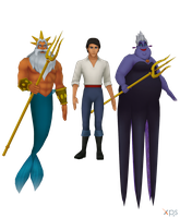 Eric, Triton, Ursula [XPS] by LexaKiness