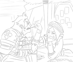 WIP Moga Shenanigans by RoniBro