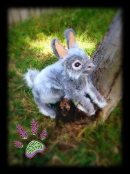 RECYCLED bunny TBL artdoll by TouchedbyLavender