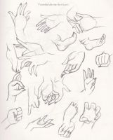 .: Hand Practices (and feet) :. by Yrandiel