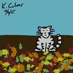 Day 6: Cat Playing In Fall Leaves by kyle-culver