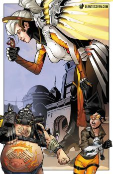 Giantess Mercy Is Out of Mercy by giantess-fan-comics