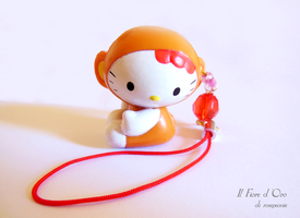 Hello Kitty Little Monkey charm by rosepeonie