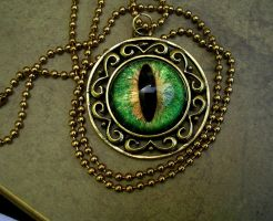 Green Golden Royalty Pendant by LadyPirotessa