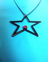Black star necklace 1 by Laura-in-china