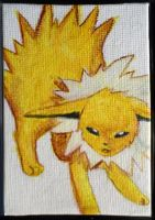 Mini Eeveelution canvases - Jolteon by Hatters-Workshop