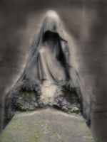 Ghost on the grave by Flusswind